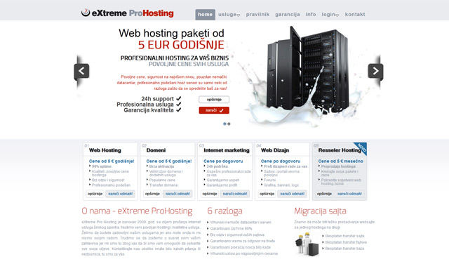 Screenshot extreme-prohosting.com